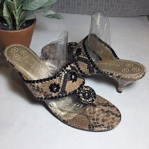 Jack Rogers Snake Kitten Heel Sandals Size 10M